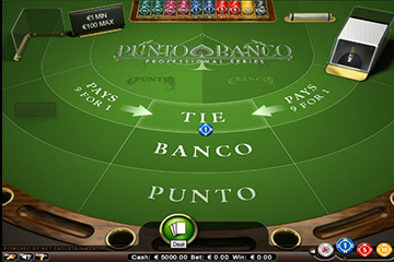 Punto Banco casino game